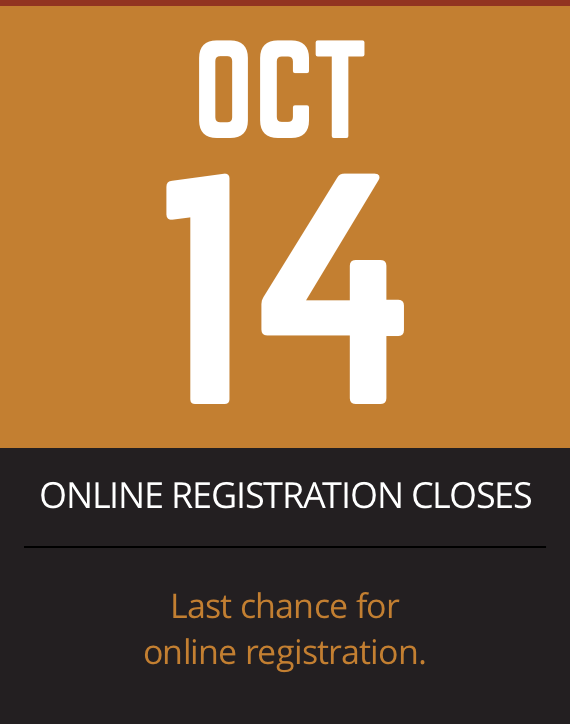 Online registration closes